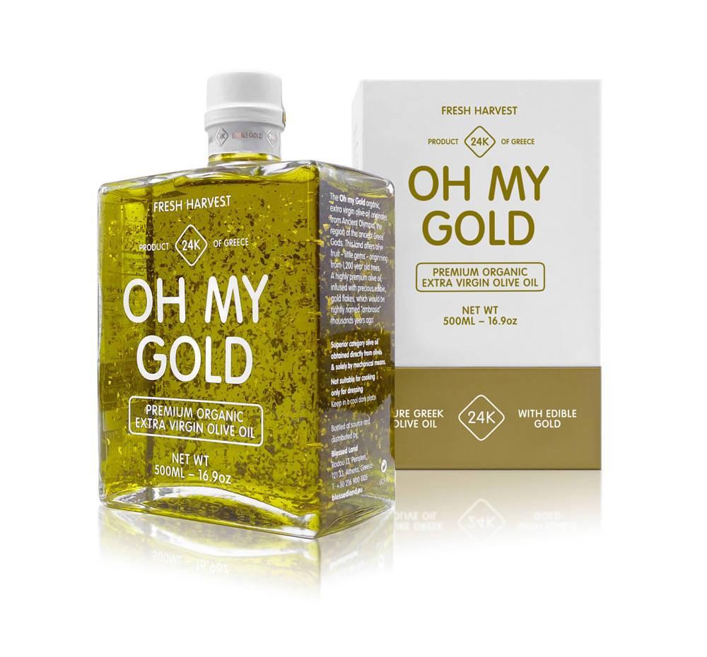高端橄榄油包装设计_黄金橄榄油包装设计