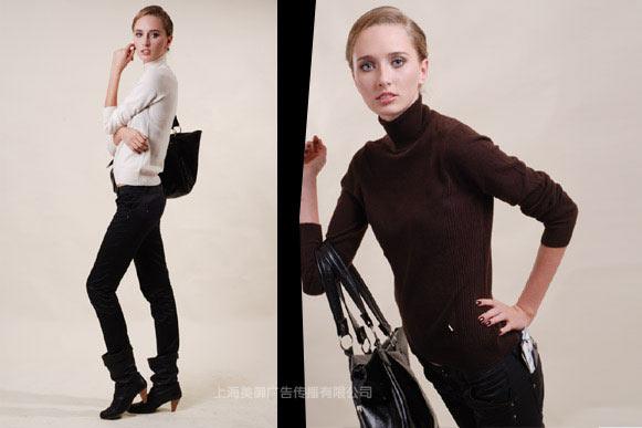 韩国金山洋行羊绒衫|服装广告摄影|服装画册设计|美