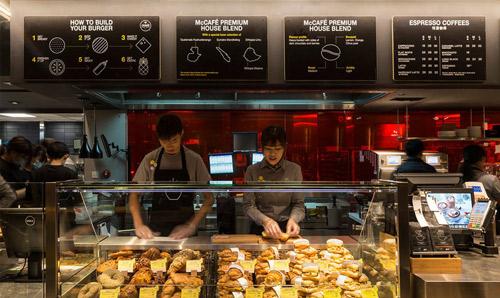 麦当劳推出了新概念店图片