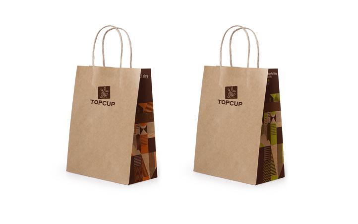 咖啡品牌设计 餐饮品牌vi设计 topcup品牌vi设计