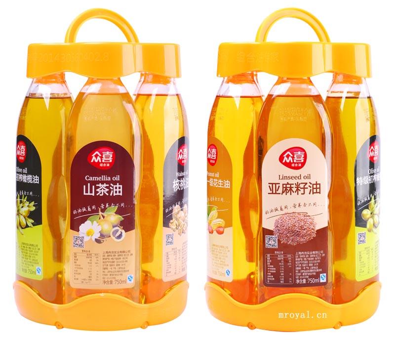 标签:食用油包装设计,众喜,组合油包装设计