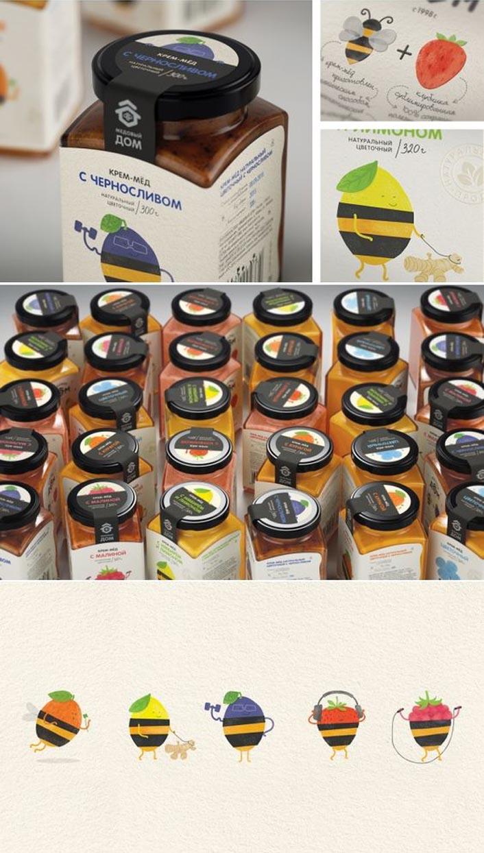 蜂蜜包装设计,蜂产品包装设计