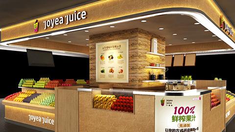鲜榨果汁店铺设计