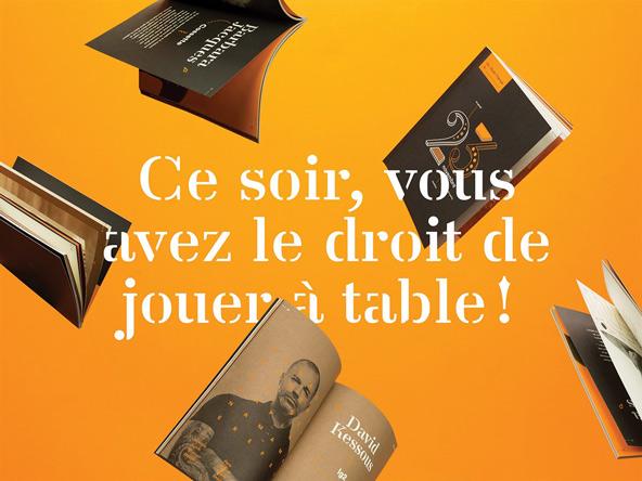 法国创意餐饮机构杂志平面设计欣赏